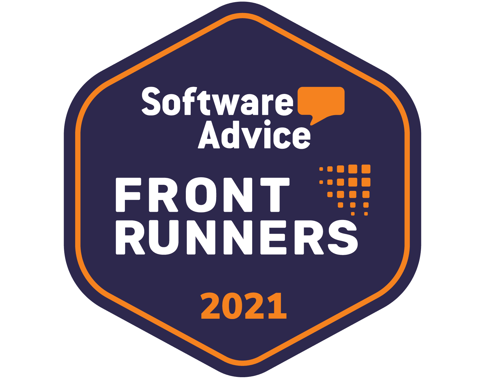 software advice front runner badge 2021, gartner